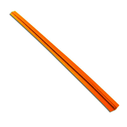 3 1/2 in x 5/32 in, Orange Single Wire 27 Gauge Paper Twist Ties, 2000 Per Box