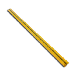 3 1/2 in x 5/32 in, Yellow Single Wire 27 Gauge Paper Twist Ties, 2000 Per Box