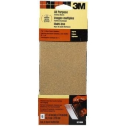 3M Aluminum Oxide 1/3 Sheets 9216ES, 3 2/3 in x 9.0 in, Medium, 100 grit, Open Stock, Obsolete