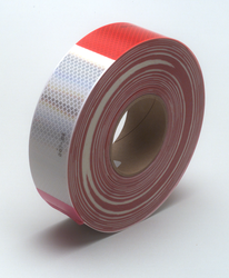 3M Diamond Grade Conspicuity Marking Roll 983-32 (PN67533) Red/White, 2 in x 150 ft