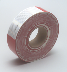 3M Diamond Grade Conspicuity Marking Roll 983-326 (PN67535) Red/White, 2 in x 150 ft