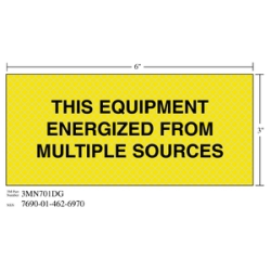 3M Diamond Grade Electrical Sign 3MN701DG THISSOURCE, 7 in x 3 in, 10 per package