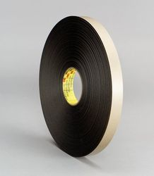 3M Double Coated Polyethylene Foam Tape 4492B Black, 48 in x 175 yd, 1 per case Bulk
