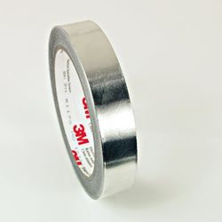 3M EMI Embossed Aluminum Shielding Tape 1267, 3/4 in x 18 yd (19.05 mm x 16.5 m), 12 per roll