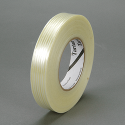 3M Filament Tape 8930 Clear, 12 mm x 50 m, 72 rolls per case