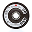 3M Flap Disc 747D, T27 4-1/2 in x 7/8 in P120 X-weight, 10 per case