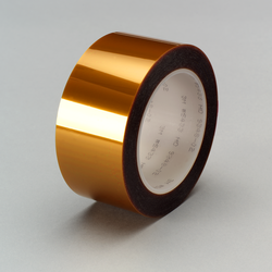3M Linered Low Static Polyimide Film Tape 5433 Amber, 2 in x 108 yd 2.7 mil, 6 per case Bulk