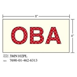 3M Photoluminescent Film 6900, Shipboard Sign 3MN102PL OBA, 8 in x 4 in, 10 per package