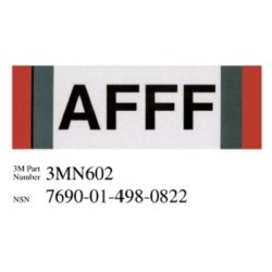 3M Photoluminescent Film 6900, Shipboard Sign 3MN139PL, 8 in x 4 in, AFFF, 10/pkg