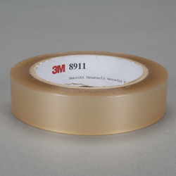 3M Polyester Tape 8911 Transparent, 1/2 in x 72 yd, 72 per case