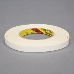 3M Repulpable Heavy Duty Double Coated Tape R3287 White, 12mm x 165m, 18 per case Bulk