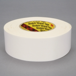 3M Repulpable Heavy Duty Double Coated Tape R3287 White, 60mm x 55m, 12 per case
