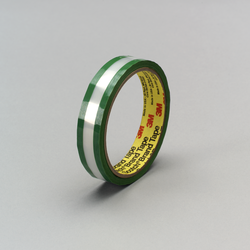 3M Riveters Tape 685 Transparent with Green Adhesive, 1 in x 36 yd, 36 per case Bulk