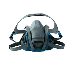 3M Rugged Comfort Quick Latch Half Facepiece Reusable Respirator 6502QL / 49490 Medium, 10/CS