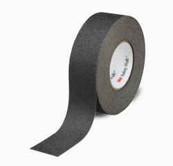 3M Safety-Walk Slip-Resistant General Purpose Tapes and Treads 610, Black, 2 in x 60 ft, Roll, 2/c