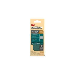 3M SandBlaster Sandpaper with NO-SLIP GRIP Backing, 421-080-G, 2-1/4 in x 5-1/2 in, 80 grit, 8 she