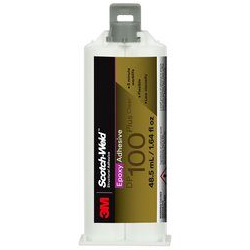 3M Scotch-Weld Epoxy Adhesive DP100 Plus Clear, 48.5 ml, 12 per case, Applicator Needed