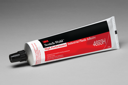 3M Scotch-Weld High Performance Industrial Plastic Adhesive 4693H Clear, 5 oz, 36 per case
