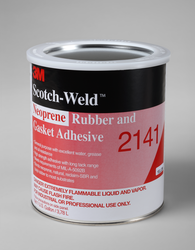3M Scotch-Weld Neoprene Rubber And Gasket Adhesive 2141 Light Yellow, 1 Gallon, 4 per case. Note: