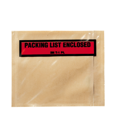 3M Top Print Packing List Envelope PLE-T1, 4-1/2 in x 5-1/2 in, 100 per box 10 boxes per case