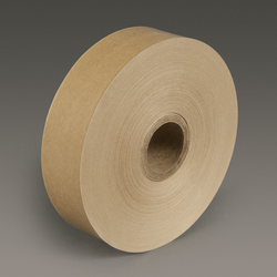 3M Water Activated Paper Tape 6141 Natural Light Duty, 1-1/2 in x 500 ft, 20 rolls per case Bulk