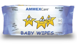 AMMEX BWCR AMMEXCare Baby Wipes Refills, 80 Wipes Per Refillable Refill, 12 Refills Per Case