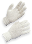 AMMEX SKB-L Bleached String Knit Gloves White, Large, 12 Pairs Per Pack, 12 Packs Per Case