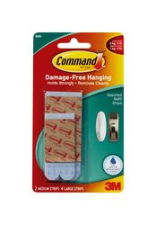 Command Assorted Water-Resistant Refill Strips 17615B-ES