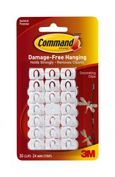 Command Decorating Clips with Water-Resistant Strips 17026H