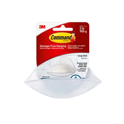 Command Soap Dish with Water-Resistant Strips BATH14-ESBU