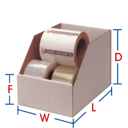 Corrugated Self-Locking Bin Boxes White, 2 x 18 x 4-1/2, 50 Per Bundle
