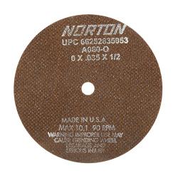 "A60-OBNA2-66252835164 6/"" x .060/"" x 1//2/"" Norton Cutoff Grinding Wheel"