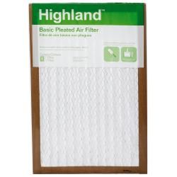 Highland Basic Pleated Air Filter PHDW19DC-6, 12 in x 20 in x 1 in (30,4 cm x 50,8 cm x 2,5 cm)