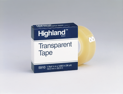 Highland Transparent Tape 5910, 3/4 in x 1296 in Boxed