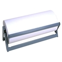 Kraft Paper Dispenser and Cutter, Horizontal, Stainless Steel