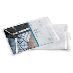 LAD 13715 2 MIL Postal Approved Lip & Tape Mailing Bags Clear, 12 in x 15.5 in + 1.5 in LIP&TAPE
