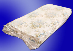 LAD 3222 1.5 MIL Clear Poly Mattress Bags On Rolls, 54 in x 8 in x 90 in, Full, 100 Per Roll