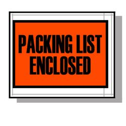 LAD 3860 Packing List Envelopes, 4 1/2 in x 5 1/2 in, 1000 Per Carton