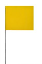 PRESCO 4515Y Solid Yellow Marking Flag, 4 x 5, 15 Wire staff, 1000 Flags Per Case