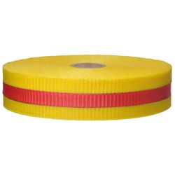 PRESCO BW.75YR150-458 .75 x 150 Ft, Yellow/Red Striped, Woven Barricade Tape, 96 Rolls Per Case