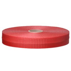 PRESCO BW2R150-458 2 x 150 Ft Solid Red, Woven Barricade Tape, 48 Rolls Per Case