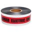 PRESCO D3105R6-457 3 x 1000 Ft, 5 Mil, Caution Buried Electric Line Below Red Detectable Undergr