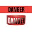 PRESCO R3103R21 3 x 1000 Ft, 3 Mil, Danger Red Day Night Visibility Barricade Tape, 8 Rolls Per