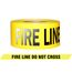 PRESCO RB31022Y820 3 x 1000 Ft, 2.5 Mil, Fire Line Do Not Cross Yellow Day Night Visibility Barr