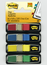 Post-it Flags 683-4, .47 in x 1.71 in Red, Canary Yellow, Blue, Green