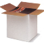 Regular Slotted Containers White, SingleWall, 12 x 10 x 8, 25 Per Bundle