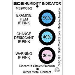 SCS Humidity Indicator Card (Hic), 3 Spot, 125/Can