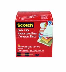 Scotch Book Tape 845, 4 in x 15 yd, 8 rl/cs