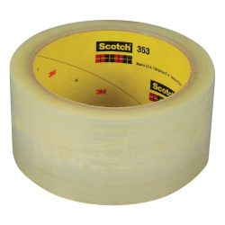 Scotch Box Sealing Tape 353 Tan Kut, 72 mm x 50 m, 24 rolls per case-OBSOLETE