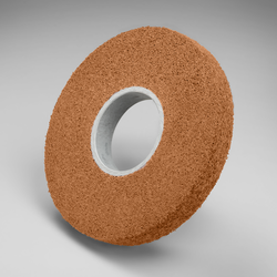 Scotch-Brite Cut and Polish Wheel, 8 in x 1 in x 3 in 5A FIN, 3 per case